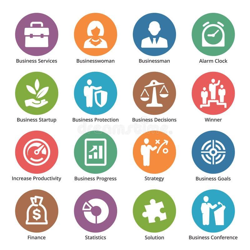 Biznesowe ikony Ustawiają 1 - kropek serie ilustracja wektor