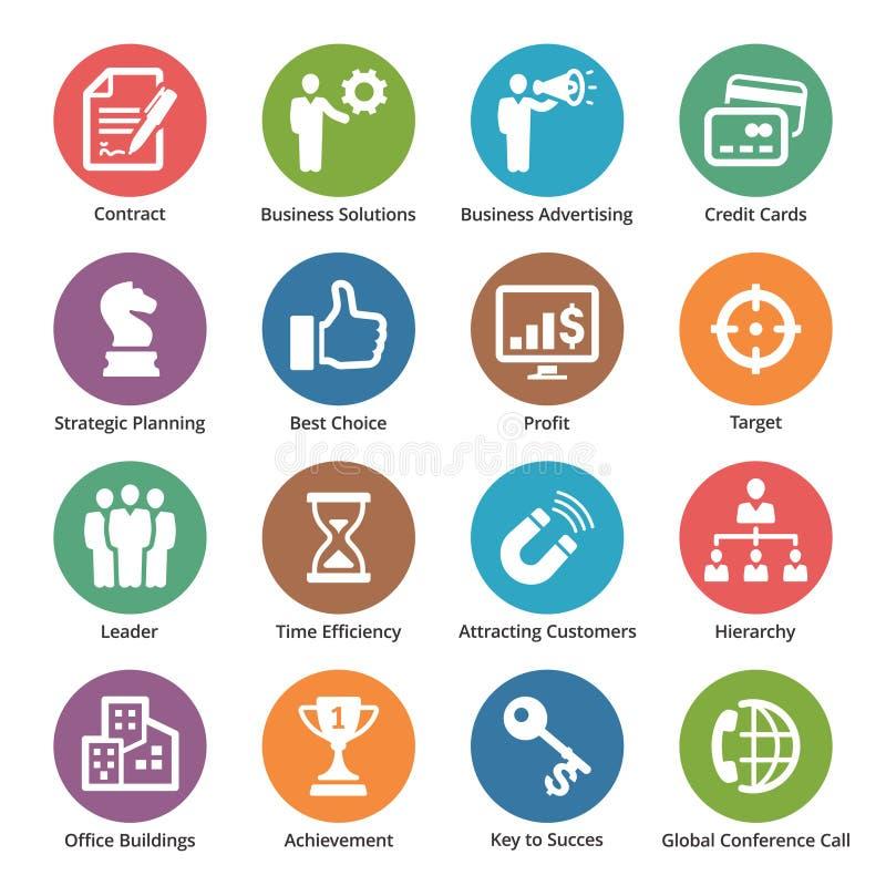 Biznesowe ikony Ustawiają 2 - kropek serie