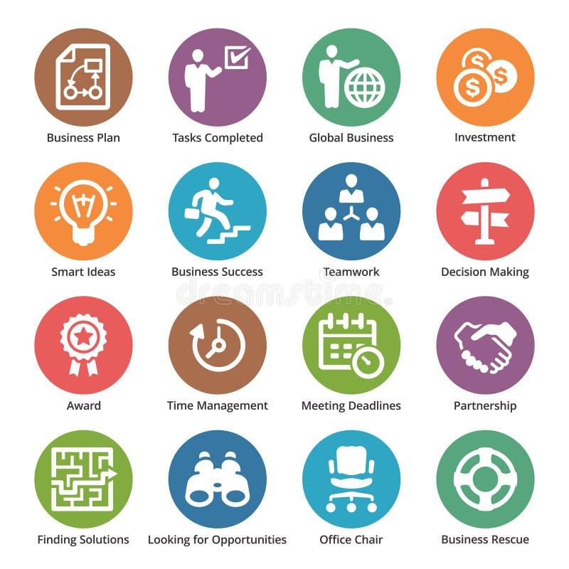 Biznesowe ikony Ustawiają 3 - kropek serie