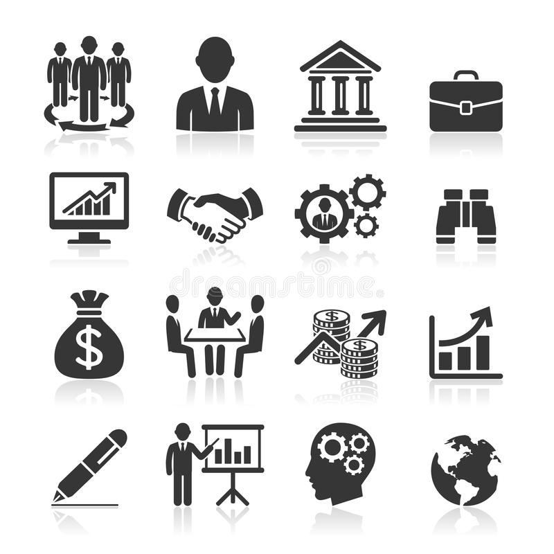 Biznesowe ikony, zarządzanie i działy zasobów ludzkich. royalty ilustracja