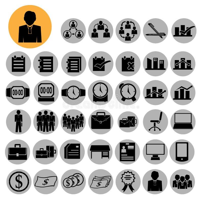 Biznesowe ikony, zarządzanie i działy zasobów ludzkich royalty ilustracja