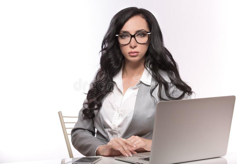 Biznesowe kobiety na białym tle obraz stock