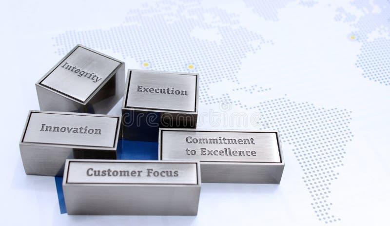 biznesowe korporacyjne wartości obrazy stock