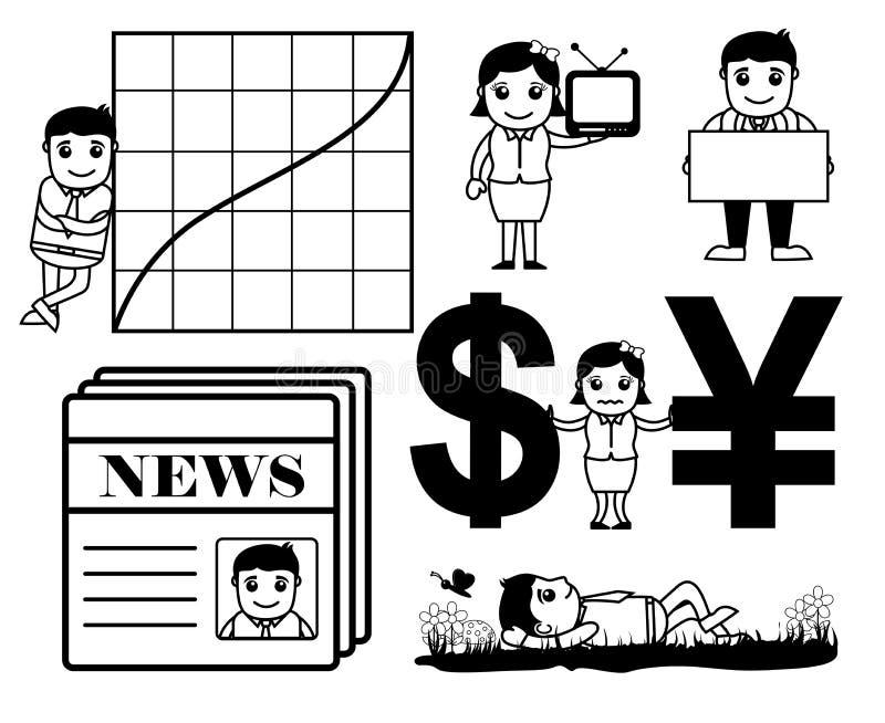 Biznesowe kreskówek grafika ilustracji