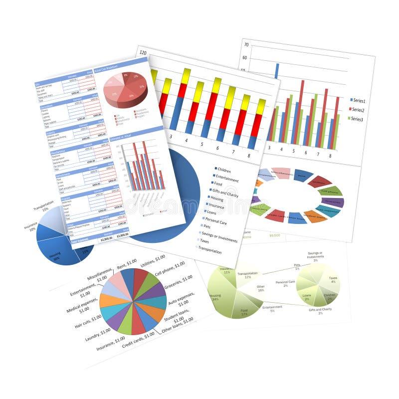 Biznesowe Mapy I Wykresy Fotografia Stock