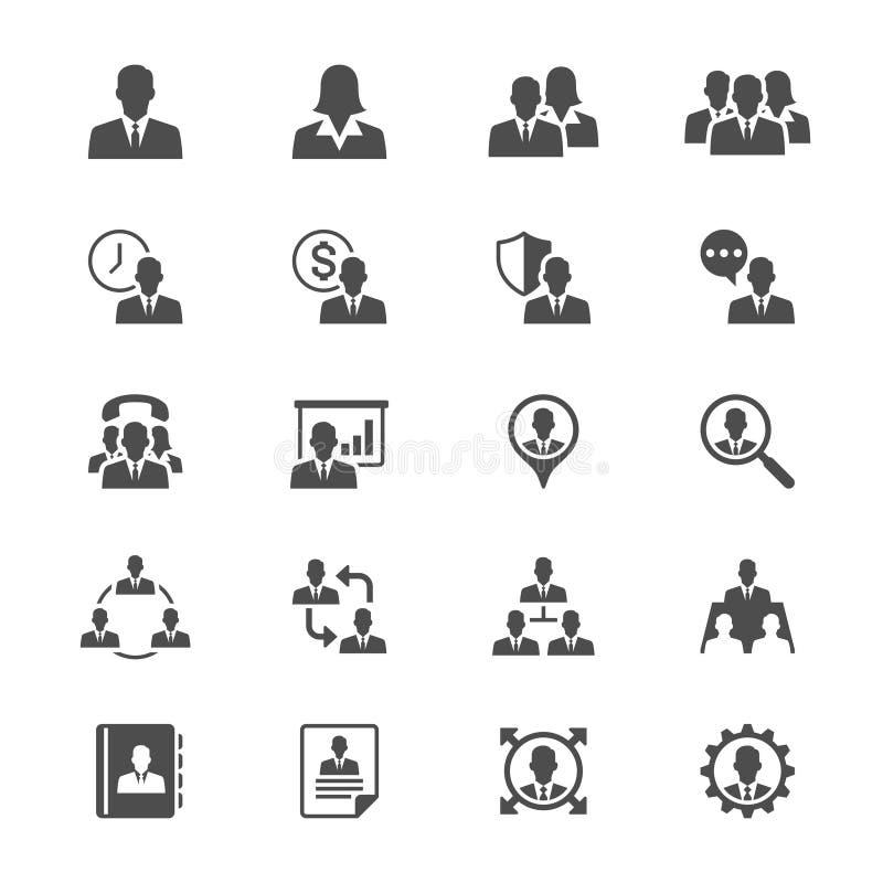 Biznesowe płaskie ikony ilustracja wektor