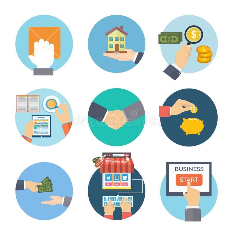 Biznesowe pojęcie ikony ilustracji