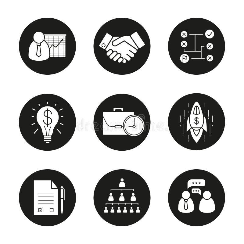 Biznesowe pojęcie ikony ustawiać ilustracja wektor