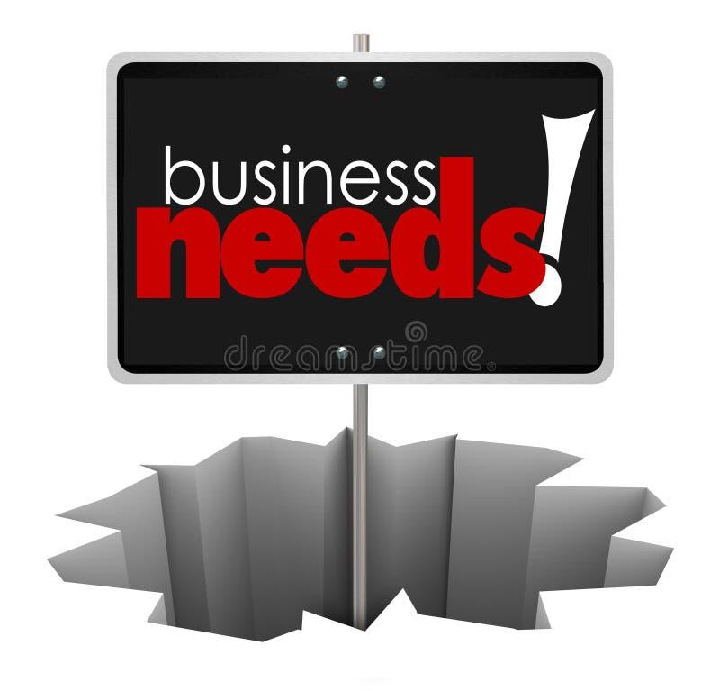 Biznesowe potrzeby Podpisywać wewnątrz dziura produktu Usługowego klienta Rozwiązują Probl royalty ilustracja