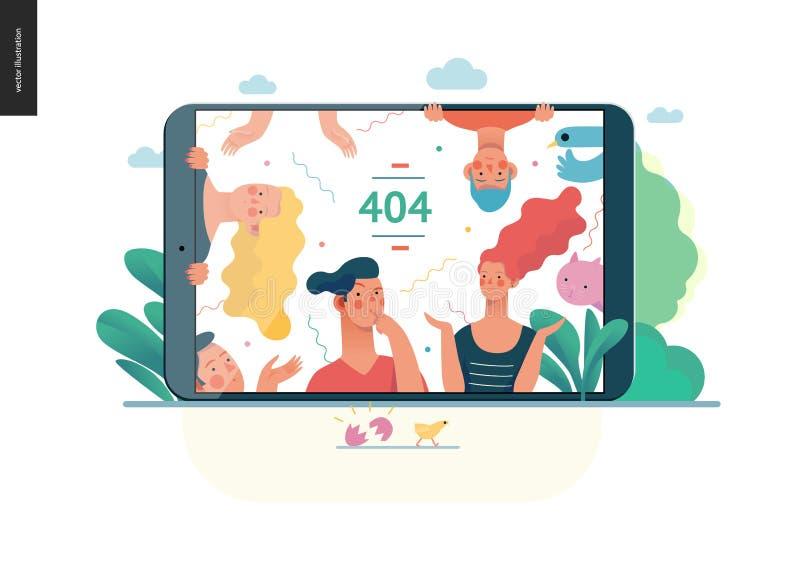 Biznesowe serie - błędu 404 sieci szablon royalty ilustracja
