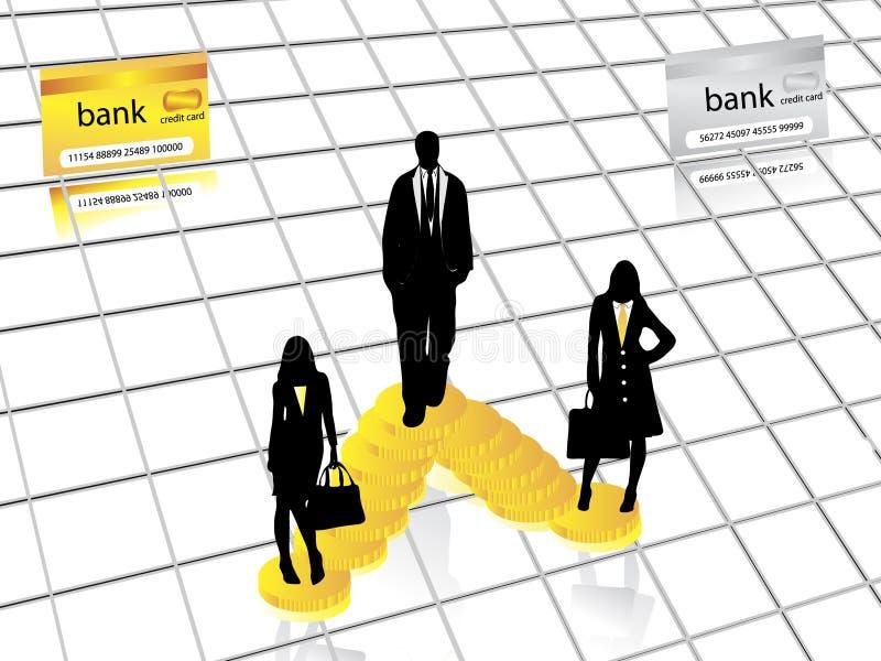 Download Biznesowe sylwetki ilustracja wektor. Obraz złożonej z figurki - 8133278