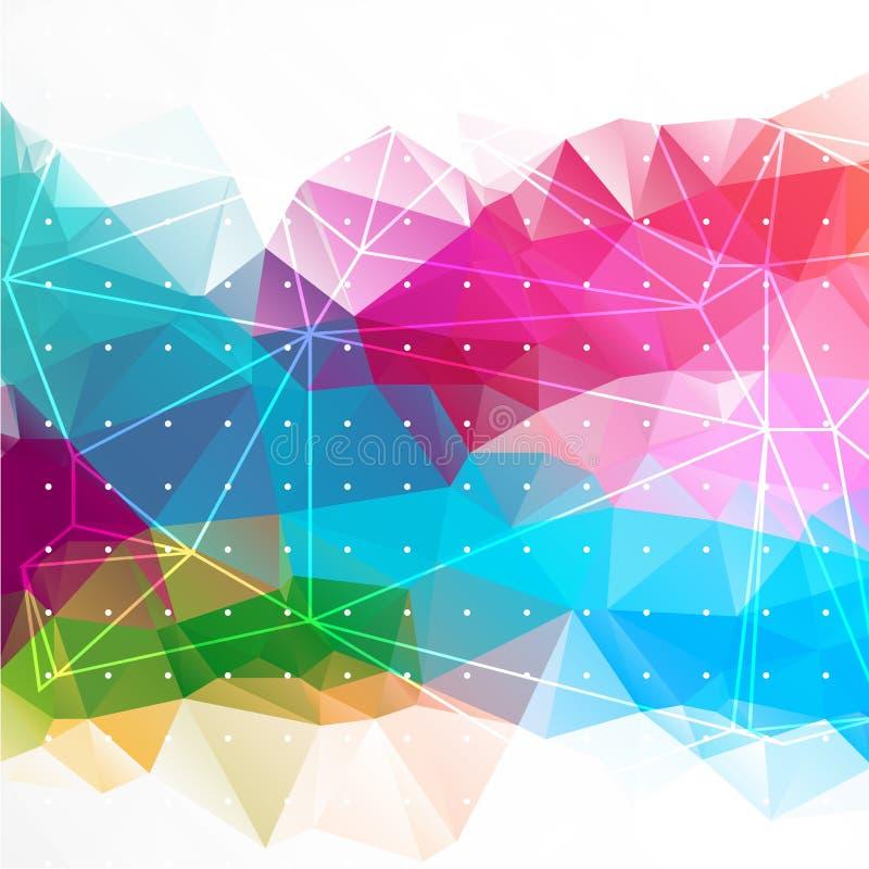Biznesowego abstrakcjonistycznego trójboka korporacyjny tło ilustracja wektor