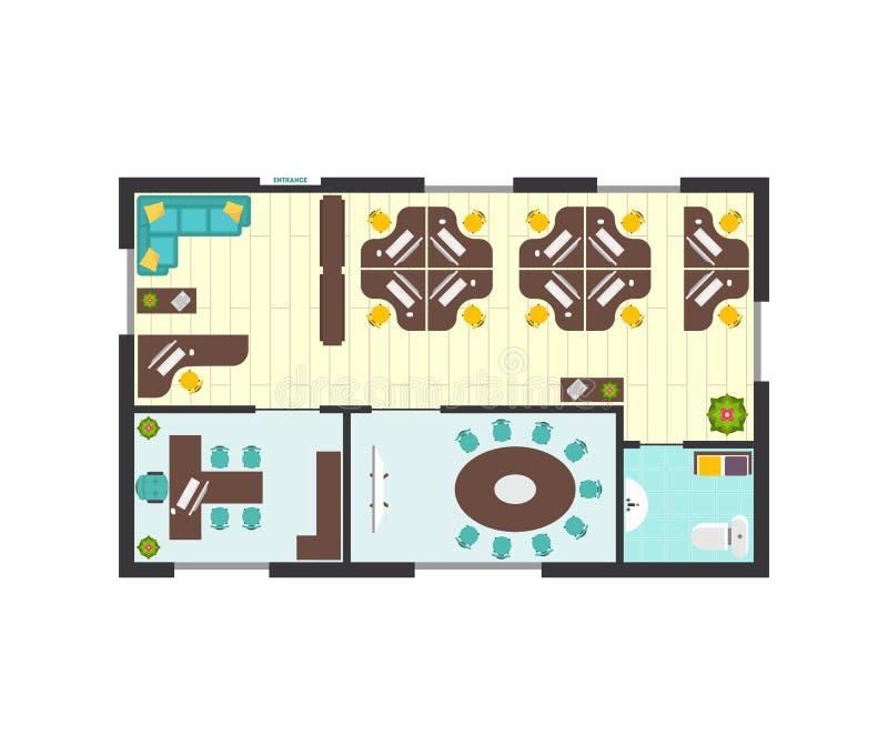 Biznesowego biura architektury plan wektor ilustracja wektor