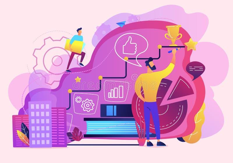 Biznesowego biura dane analizy wektoru ilustracja ilustracji