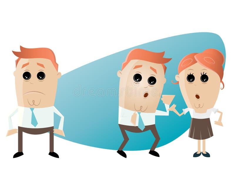 Biznesowego biura plotki sytuacja ilustracji