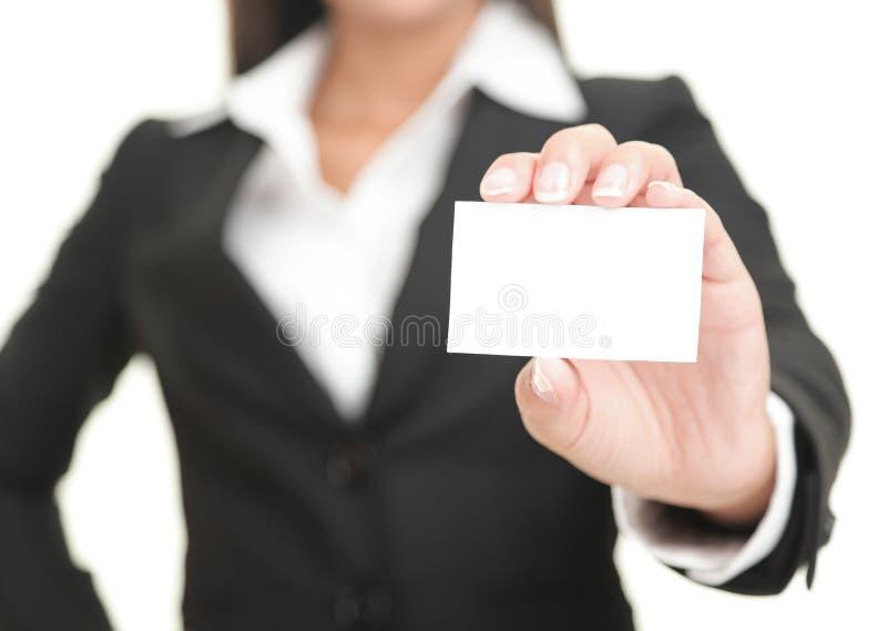 biznesowego bizneswomanu karciany seans obrazy stock