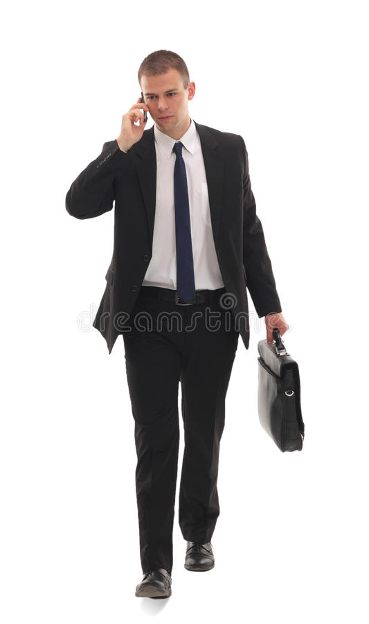 biznesowego carryi mężczyzna portreta pomyślni potomstwa zdjęcia royalty free