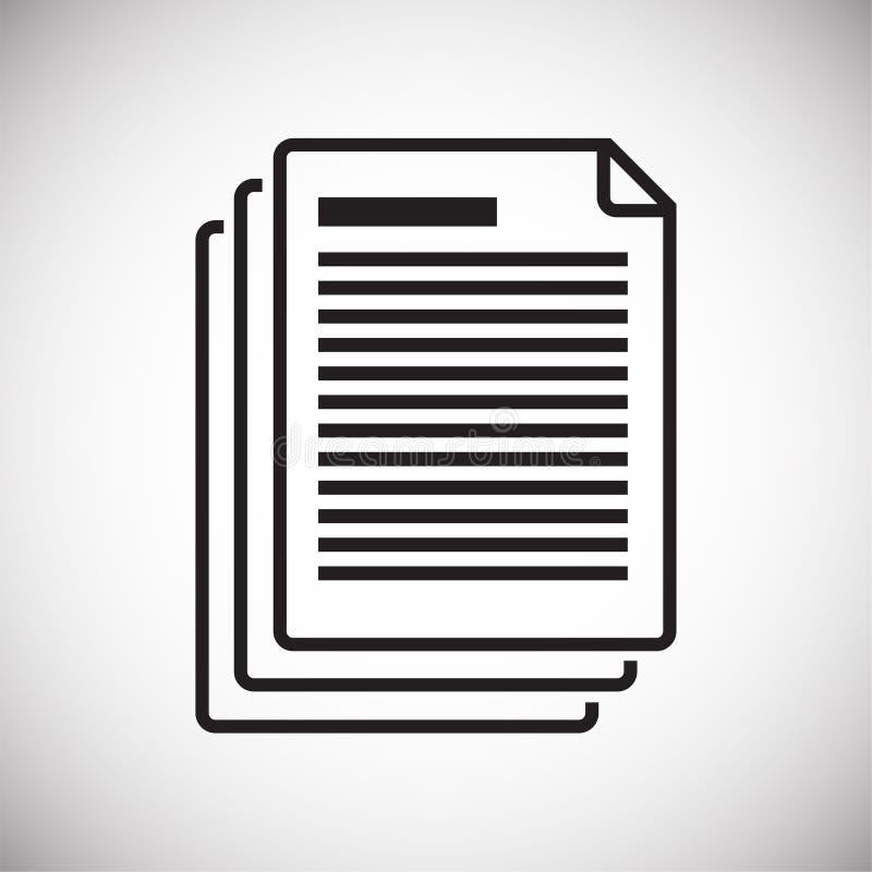 Biznesowego dokumentu ikona na białym tle dla grafiki i sieci projekta, Nowożytny prosty wektoru znak kolor tła pojęcia, niebiesk ilustracja wektor
