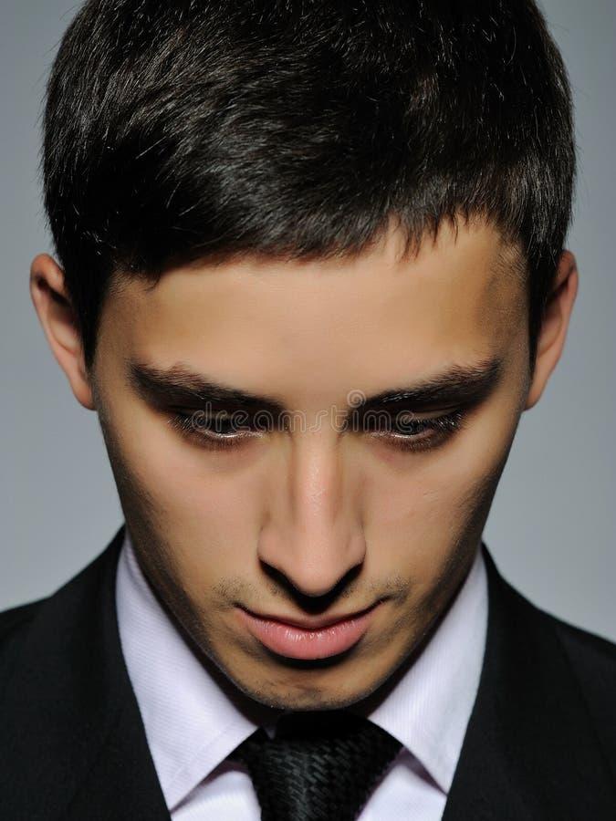 biznesowego formalnego mężczyzna portreta pomyślny kostium obrazy stock