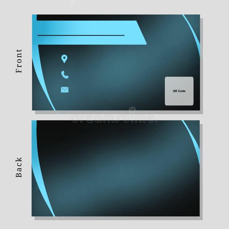 Biznesowego imienia Karcianego projekta Tosca kolor ilustracja wektor
