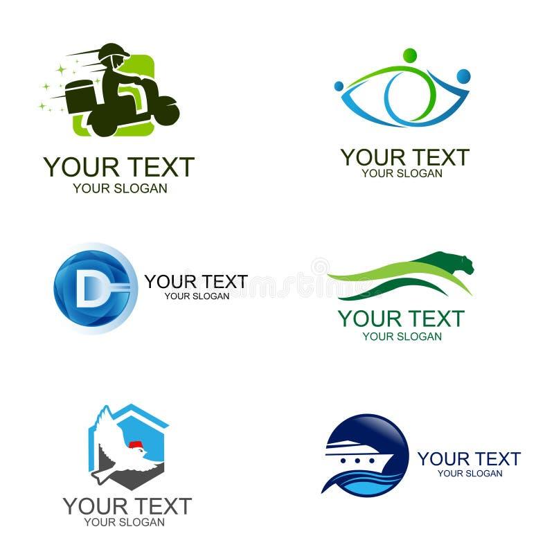 Biznesowego Korporacyjnego loga loga Ustalony Biznesowy projekt Korporacyjny loga projekt Kreatywnie Biznesowe Wektorowe ikony in ilustracji