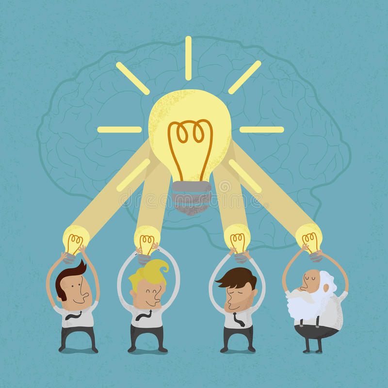 Biznesowego mężczyzna brainstorming ilustracja wektor