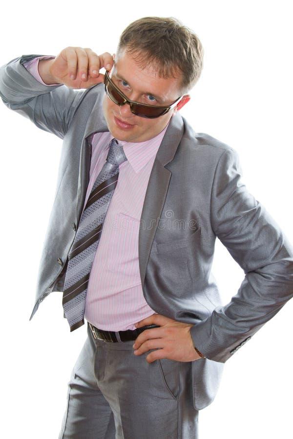 biznesowego mężczyzna elegancki kostiumu krawata target2533_0_ zdjęcie stock