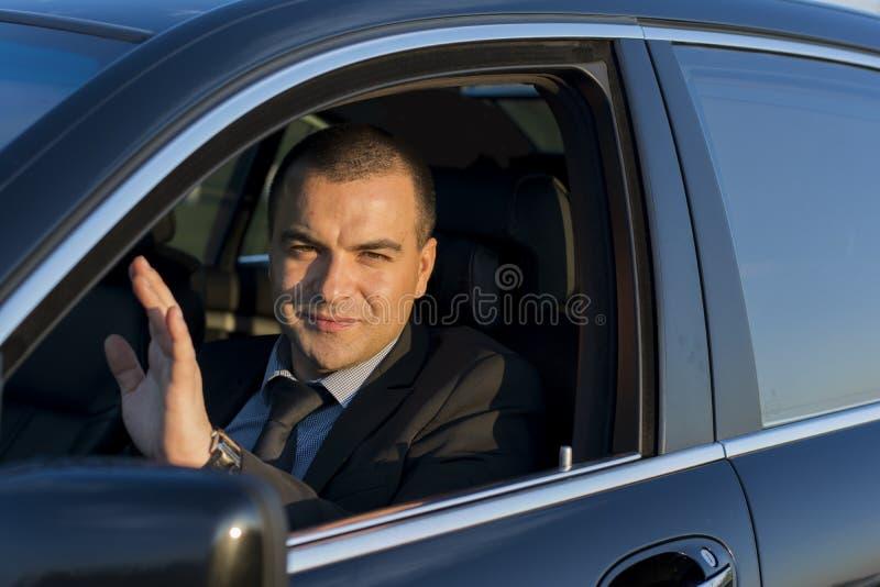 Biznesowego mężczyzna falowanie zdjęcia royalty free