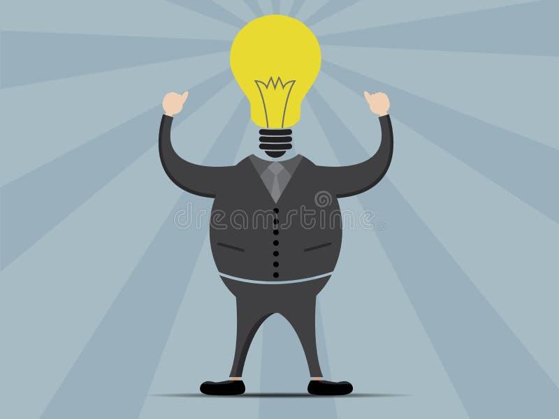 Biznesowego mężczyzna myśląca kreskówka ilustracja wektor