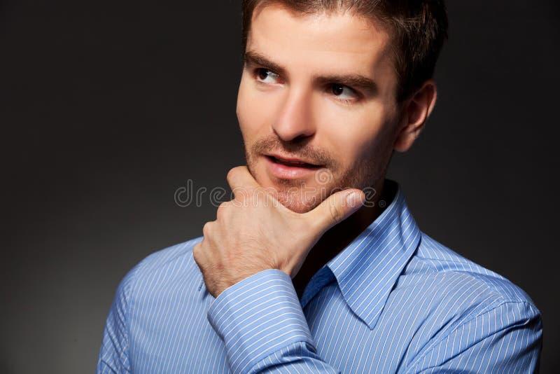 biznesowego mężczyzna myślący potomstwa fotografia royalty free