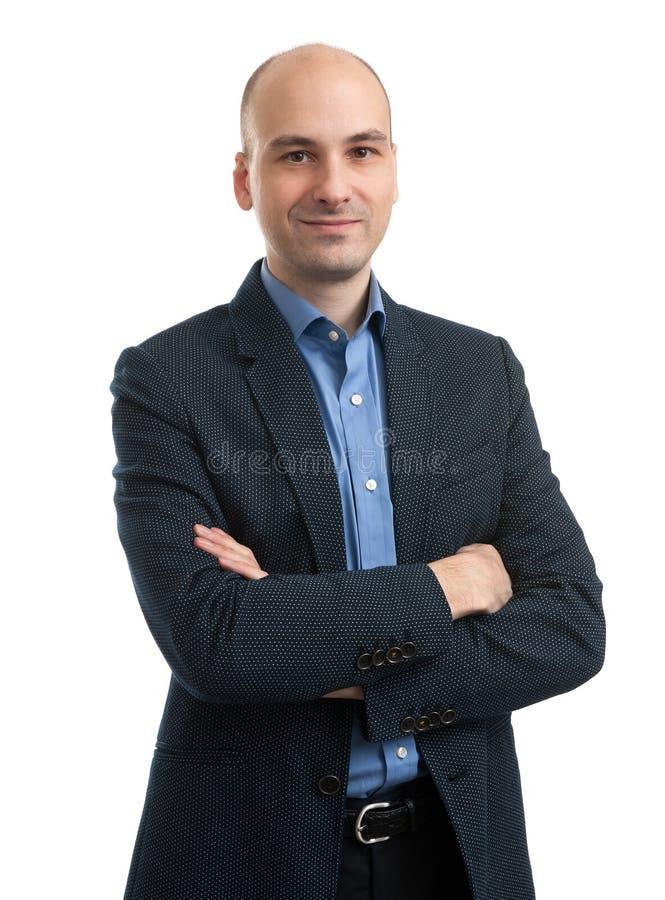 Biznesowego mężczyzna ono uśmiecha się zdjęcie stock