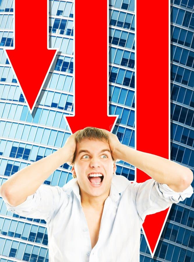 biznesowego mężczyzna panika zdjęcie stock