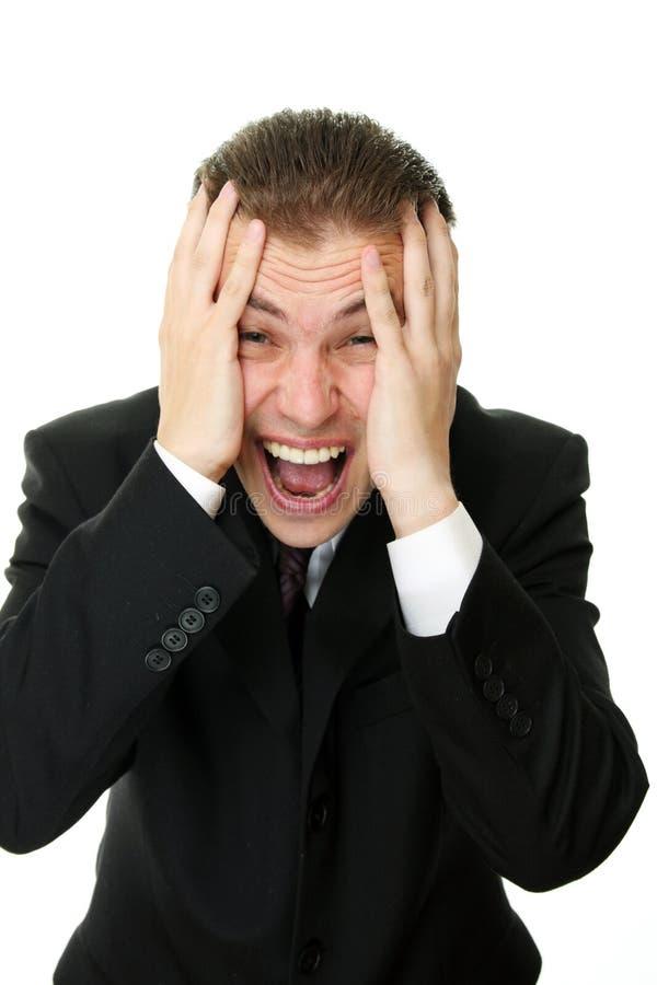 biznesowego mężczyzna paniki potomstwa zdjęcie stock