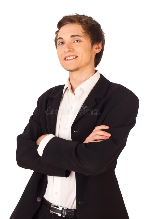 biznesowego mężczyzna pozycja pomyślna zdjęcie stock