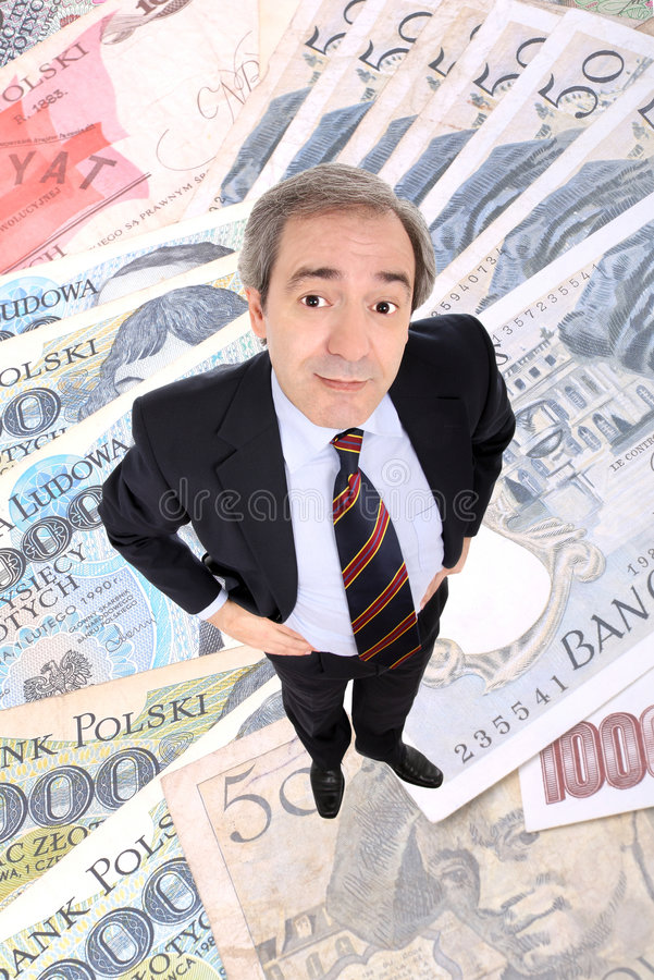 biznesowego mężczyzna pozycja zamożna obrazy royalty free