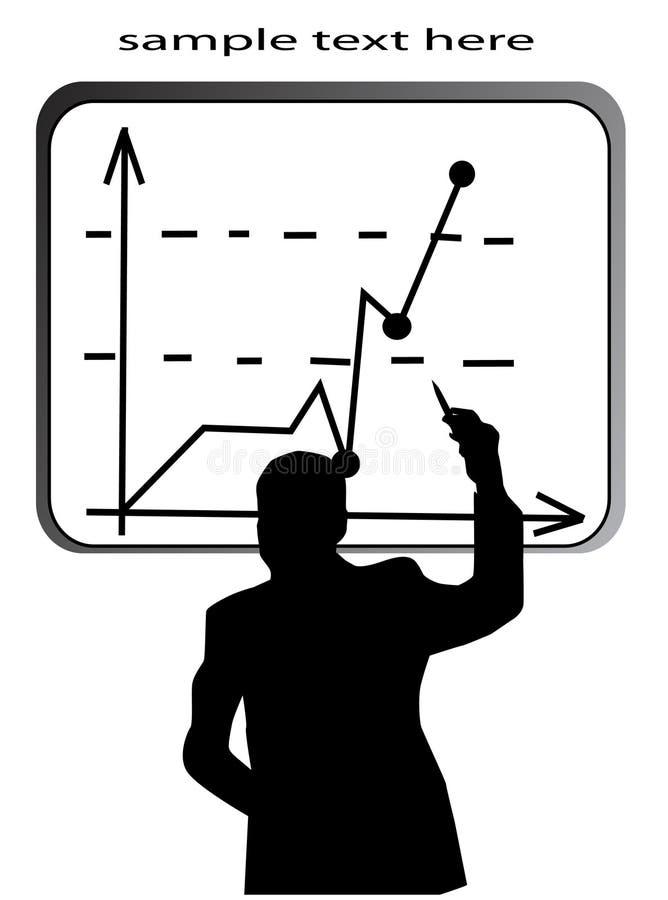 biznesowego mężczyzna prezentacja ilustracja wektor