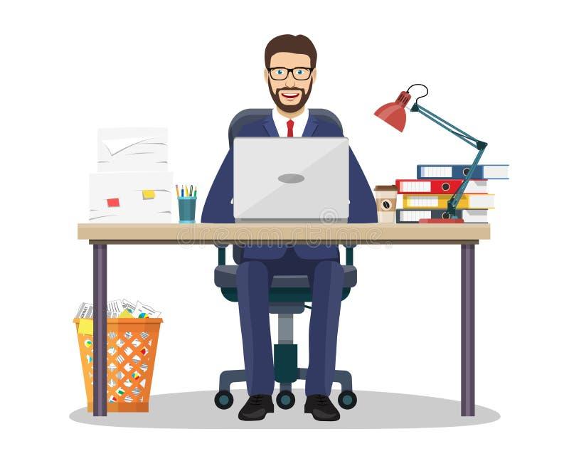 Biznesowego mężczyzna przedsiębiorca ilustracji