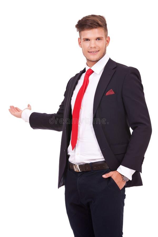 Biznesowego mężczyzna przedstawiać zdjęcie stock