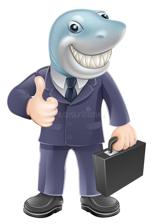 Biznesowego mężczyzna rekin ilustracji