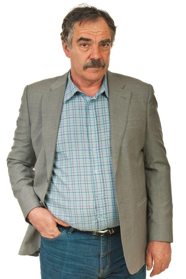 biznesowego mężczyzna senior poważny fotografia stock