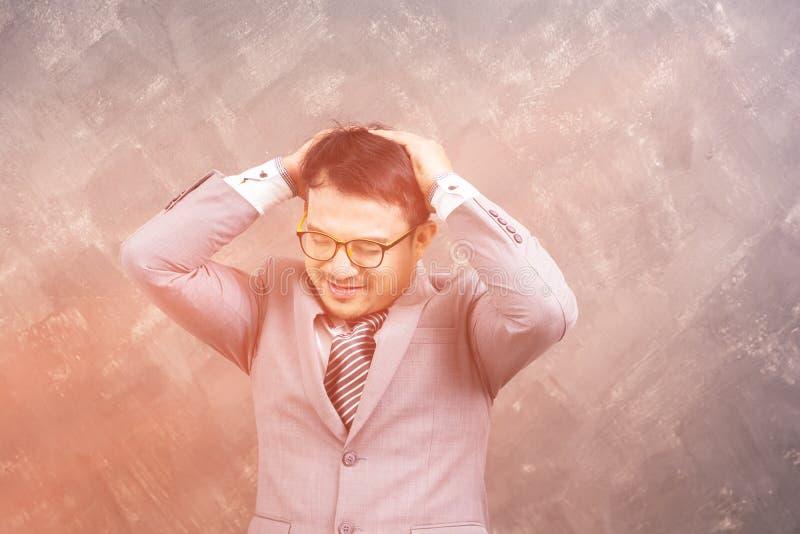 Biznesowego mężczyzna stres fotografia stock