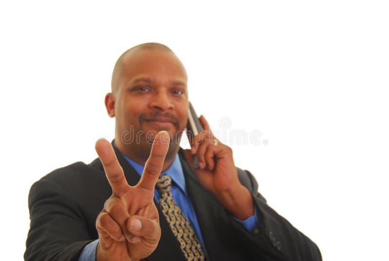 biznesowego mężczyzna telefon obrazy stock