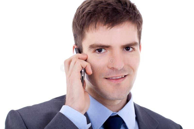 biznesowego mężczyzna telefon zdjęcia stock