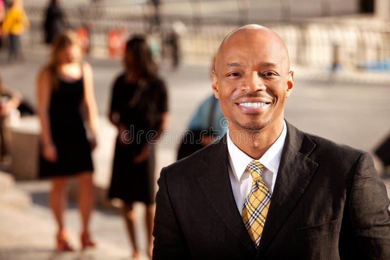 biznesowego mężczyzna uśmiech obrazy stock