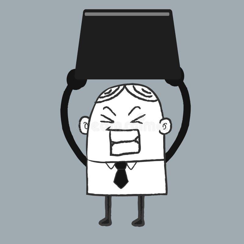Biznesowego mężczyzna wyzwanie royalty ilustracja