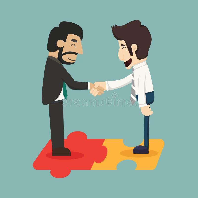 Biznesowego mężczyzna związek ilustracja wektor