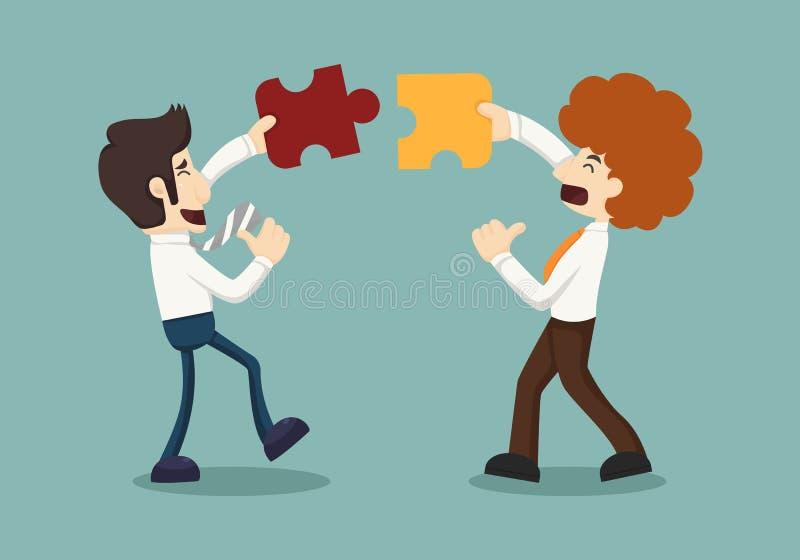Biznesowego mężczyzna związek ilustracji