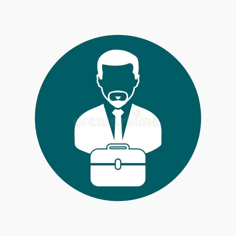 Biznesowego mężczyzny ikona z teczką ilustracja wektor