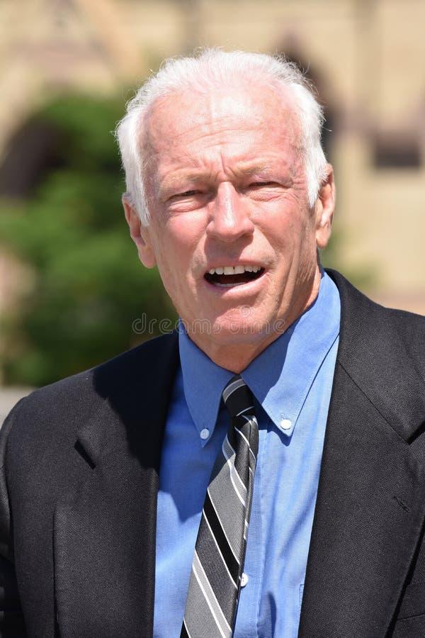 Biznesowego mężczyzny portret Jest ubranym kostium I krawat zdjęcie royalty free