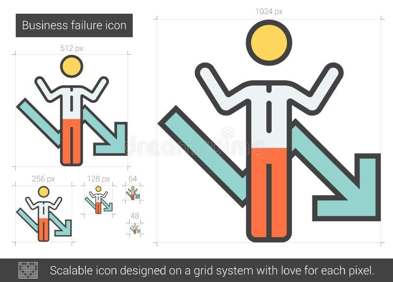 Biznesowego niepowodzenia linii ikona royalty ilustracja